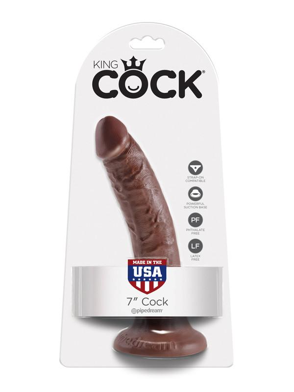 King Cock - 7 in. Cock Brown