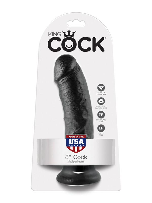 King Cock - 8 in. Cock Black