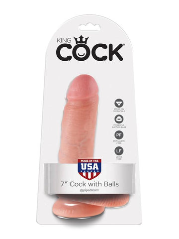 King Cock - 7 in. Cock With Balls Flesh