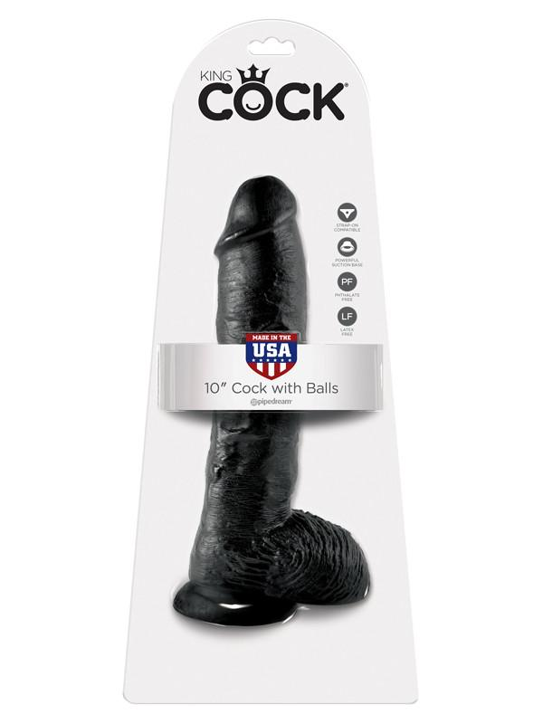 King Cock - 10 in. Cock With Balls Black