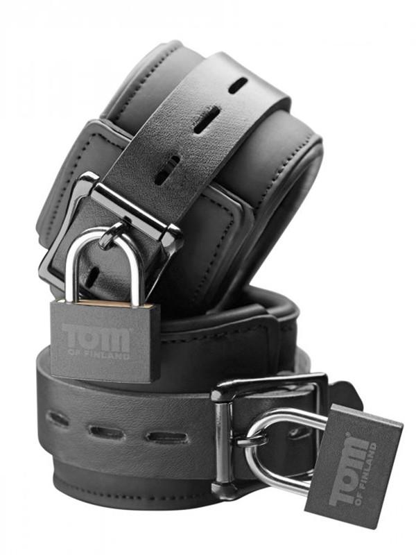 Neoprene Wrist Cuffs With Locks - joujou.com.au