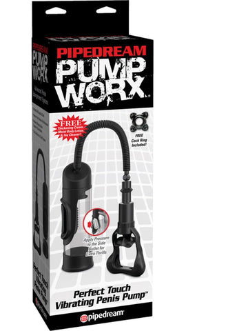 Pump Worx Perfect Touch Vibrating Penis Pump