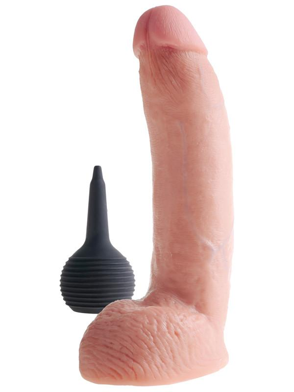 King Cock 9 in. Squirting Cock w/ Balls - joujou.com.au