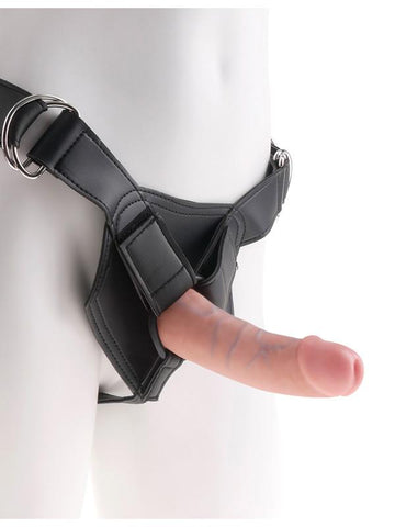 King Cock Strap-On Harness W/6 in. Cock - joujou.com.au