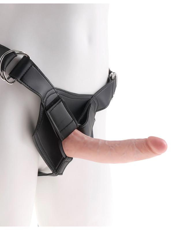 King Cock Strap-On Harness W/7 in. Cock - joujou.com.au