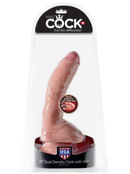 King Cock Dual Density 10 in. Cock with Balls