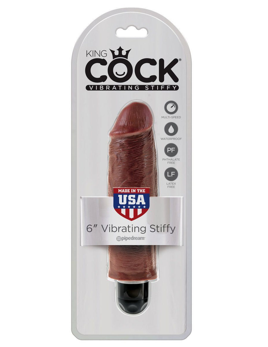 King Cock 6 in. Vibrating Stiffy - joujou.com.au