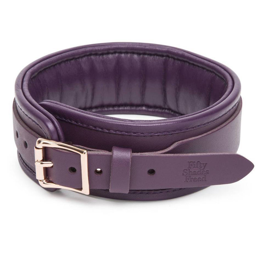 FIFTY SHADES FREED CHERISHED COLLECTION LEATHER COLLAR & LEAD - joujou.com.au