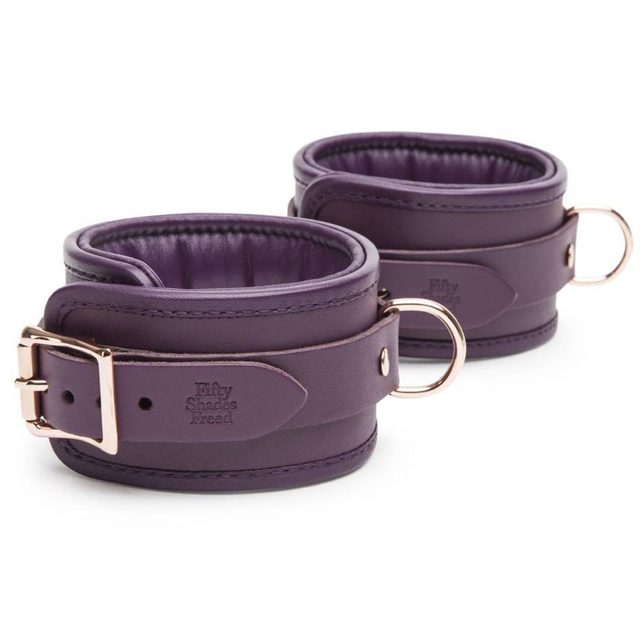 FIFTY SHADES FREED CHERISHED COLLECTION LEATHER ANKLE CUFFS - joujou.com.au
