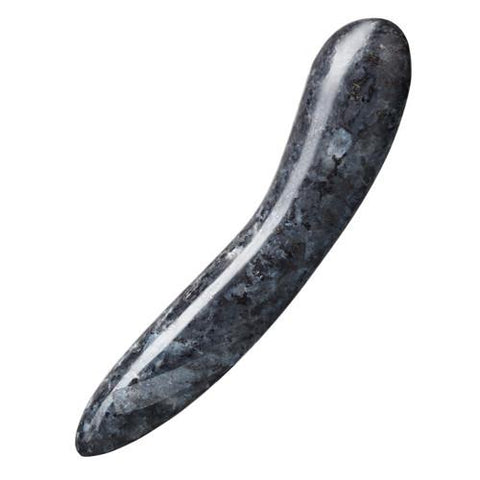 Made of polished Blue Pearl Larvikite from Norway, the D.1 Stone Dildo is designed for easy handling and G-spot stimulation.