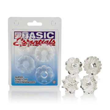 Basic Essentials Set of 4 Rings Clear - joujou.com.au