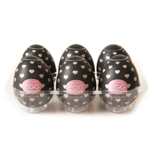 6 Pack of Tenga Easy Beat Egg Lovers.