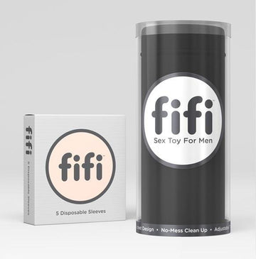 Fifi Male Masturbator Black with 5 Sleeves - joujou.com.au