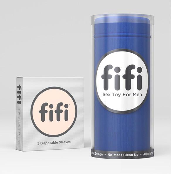 Fifi Male Masturbator Blue with 5 Sleeves - joujou.com.au