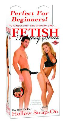 Fetish Fantasy Hollow Strap On for Him or Her Black