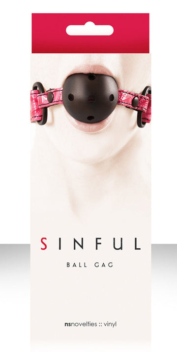 NS Novelties Sinful Pink Ball Gag