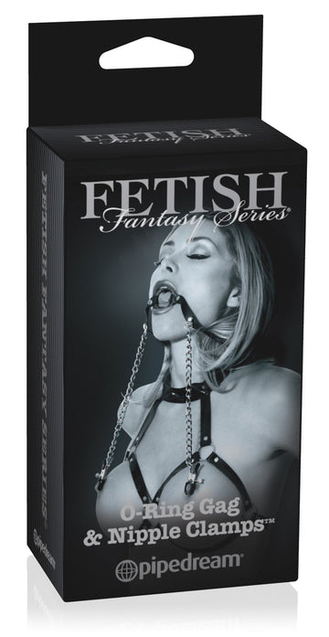 Fetish Fantasy Limited Edition O Ring Ball Gag & Nipple Clamps