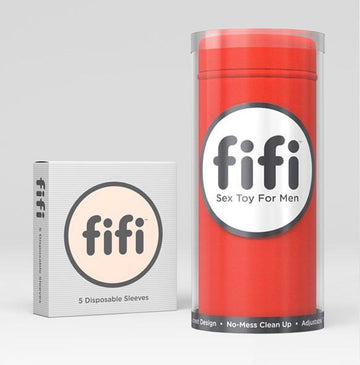 Fifi Male Masturbator Red with 5 Sleeves - joujou.com.au