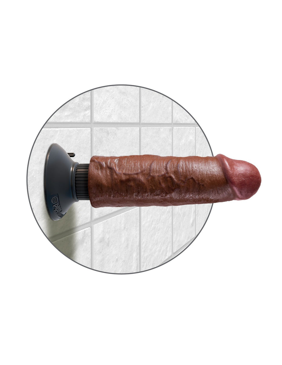 King Cock 6 in. Vibrating Cock - joujou.com.au