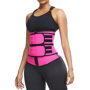 Waist Trainer Double Belts Tummy Control Corset Body Shaper