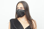 Load image into Gallery viewer, Black Disposable Mask Pack of 3