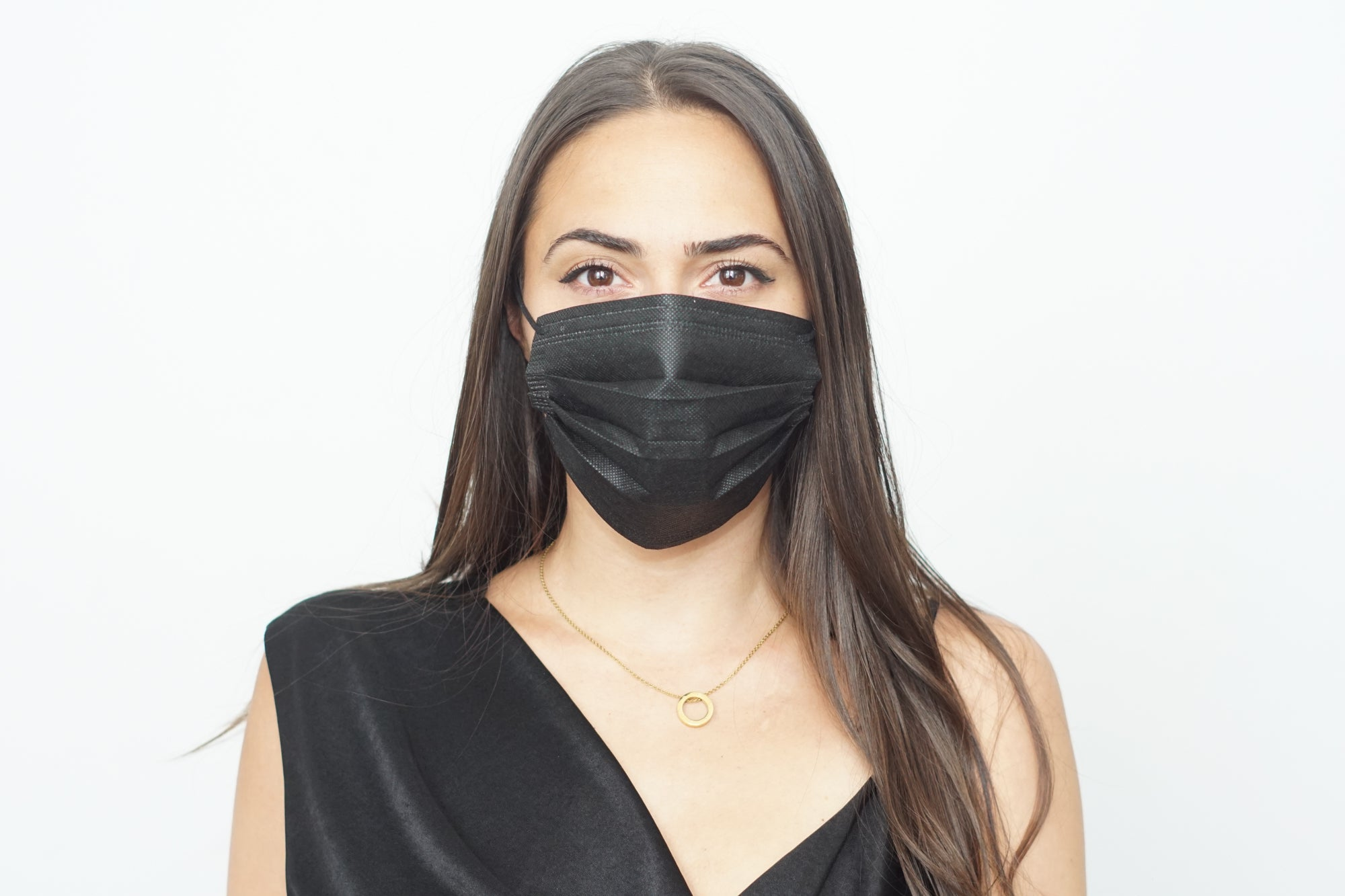 Black Disposable Mask Pack of 3