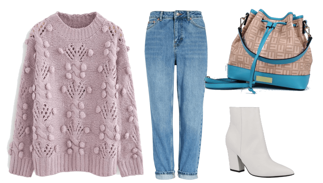 Style this Teal Bag! 4 Different ways to wear a teal bucket bag in a Casual Outfit