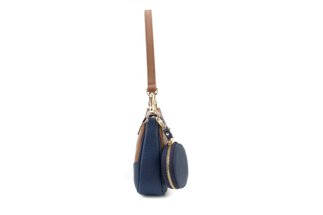 Saffiano Leather Baguette Bag - Eugenia Molina