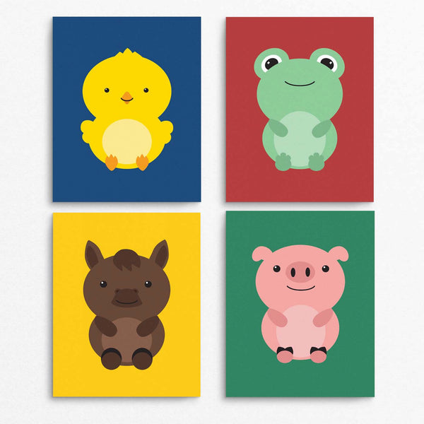 Farm Animals Printable Wall Art Set