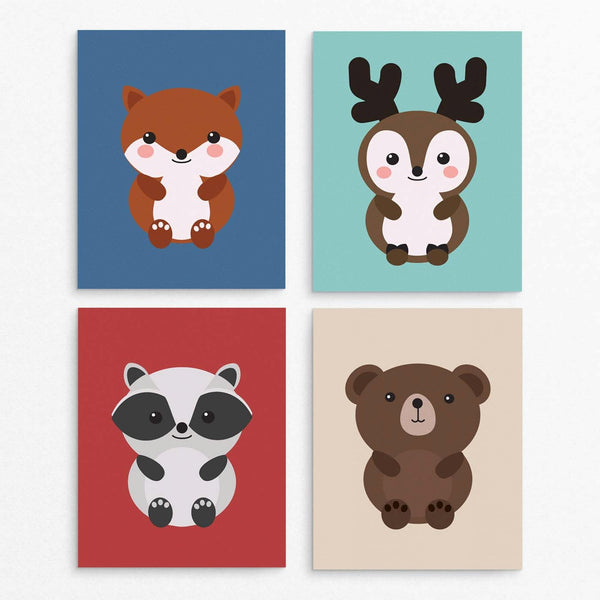 Woodland Animal Printable Kids Room Decor