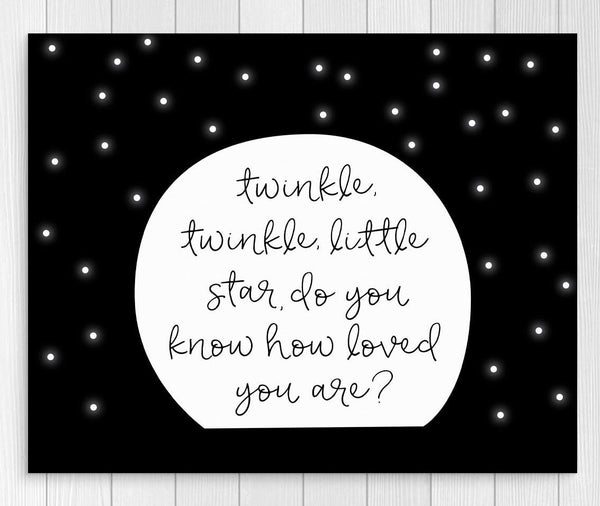 Twinkle Twinkle Little Star Printable Wall Art