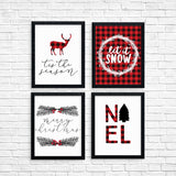 Red Plaid Christmas Printable Wall Art