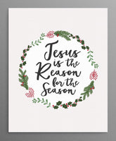 "Christmas ""Reason for the Season"" Printable Wall Art"
