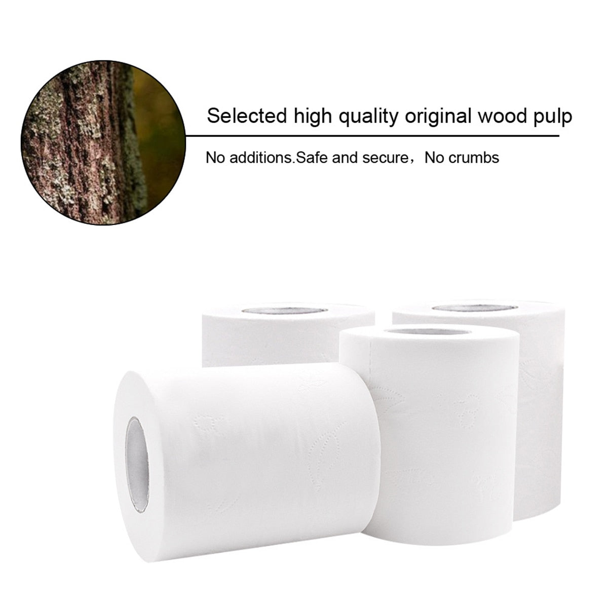 6 Rolls Of Soft Toilet Paper - POPHOLLY
