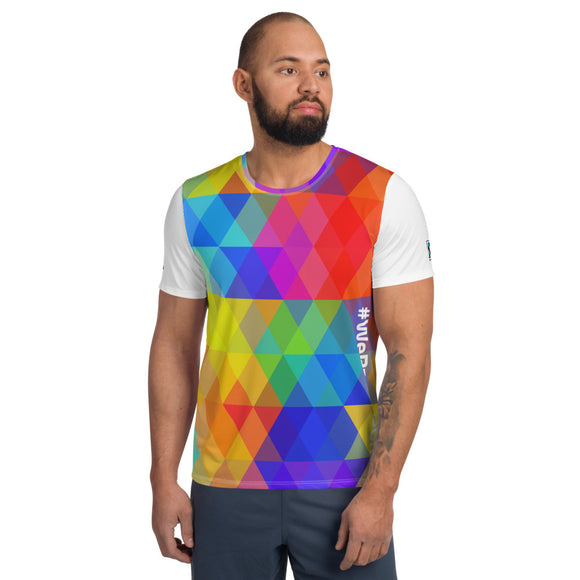 #WeRaceAsOne - All-Over Print Men's Athletic T-shirt