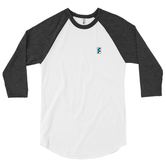 Signature Embroidered  3/4 Raglan