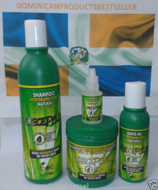4 ITEMS CRECE PELO BOE COMBO SHAMPOO 13.2 HAIR MASK TREATMENT LEAVE IN GROWTH