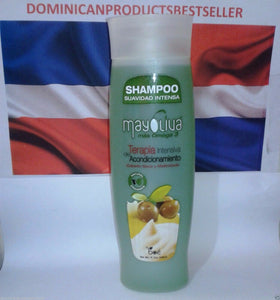 Mayoliva Boe Combo Shampoo Hair Treatment 8 oz Leave In Shine Drops Nourishing