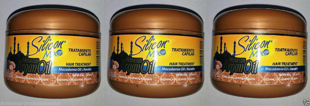 3 UNITS SILICON MIX ARGAN OIL 8 OZ HAIR MASK GROWTH KERATINE OMEGA VITAMIN E     Be the first to write a review.