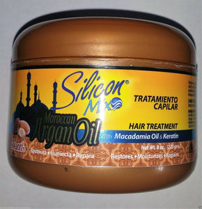 NEW LAUNCH SILICON MIX ARGAN OIL 8 OZ HAIR TREATMENT KERATIN FRETE GRATIS BRASIL