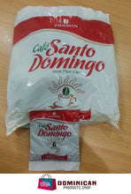 Cargar imagen en el visor de la galería, CAFE SANTO DOMINGO THE BEST DOMINICAN GROUNDED COFFEE 12 SACHETS ENVELOPES