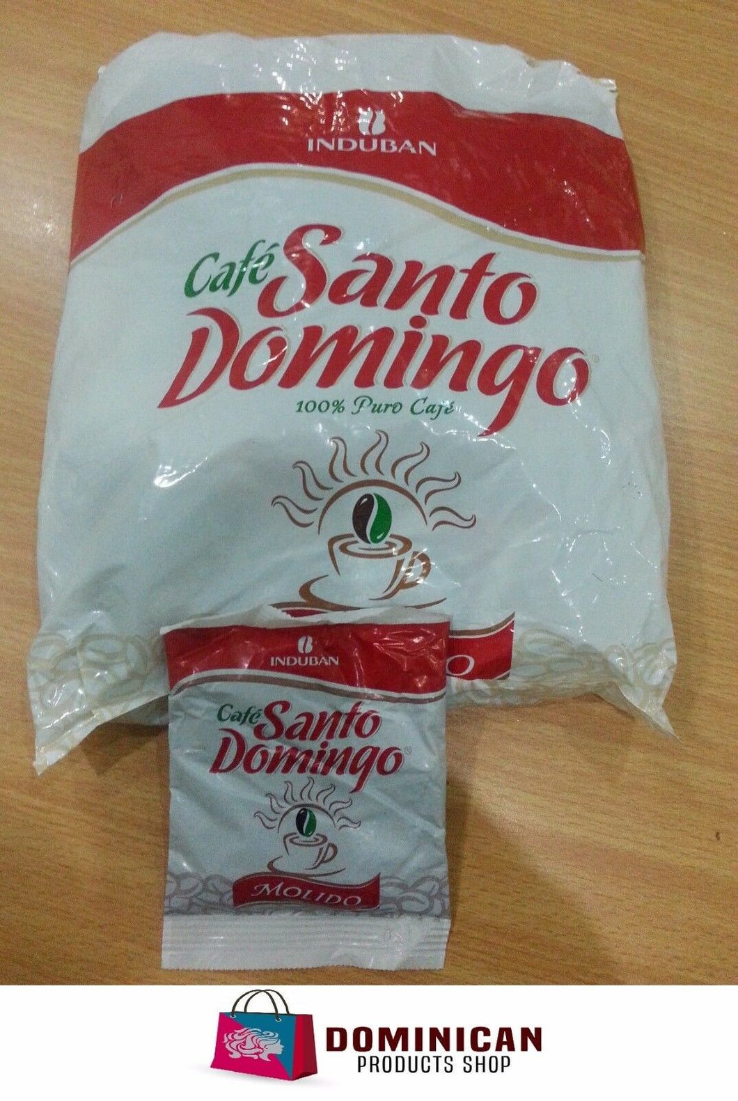 CAFE SANTO DOMINGO THE BEST DOMINICAN GROUNDED COFFEE 12 SACHETS ENVELOPES