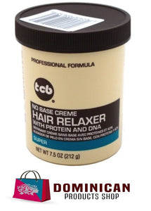 TCB NO BASE CREME 7.5 OZ 225 GRAM HAIR RELAXER SUPER STRENGHT BRASIL JAPAN EUROP
