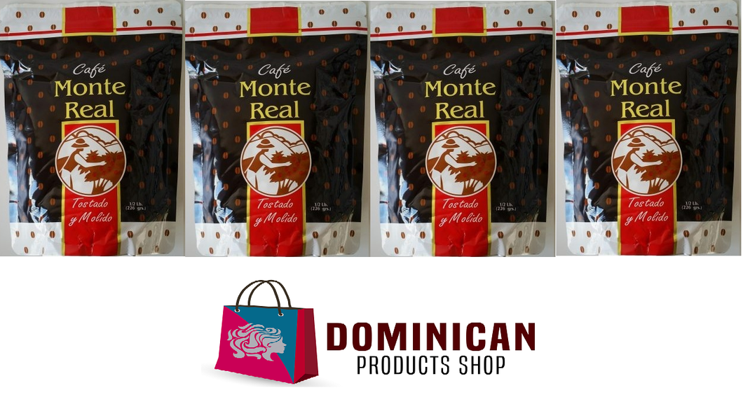 4 pound CAFE MONTE REAL ORGANIC grounded dominican coffee 100% EUROPE JAPAN