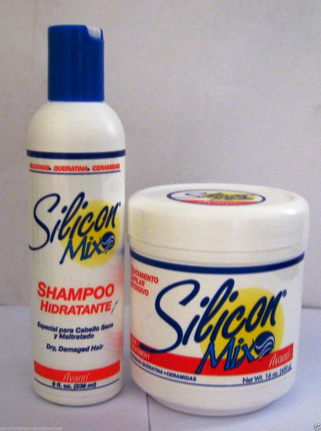SILICON MIX 16 OZ HAIR TREATMENT + SHAMPOO 8 OZ HAIR GROWTH FRETE GRATIS BRASIL