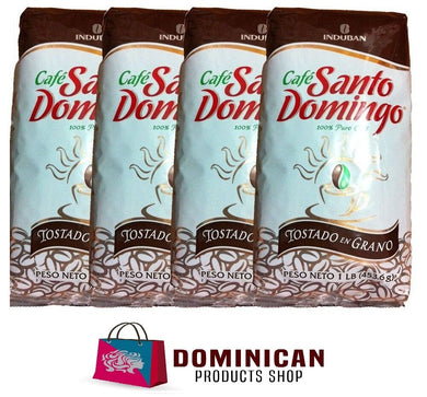 4 pound CAFE Santo Domingo toasted whole bean best Dominican coffee 100% EUROP