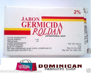 Roldan Dominican Jabon germicidal soap antipruritic antimicrobial kill bacteria