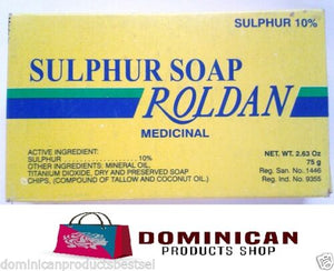 Roldan Dominican Jabon de azufre sulphur soap germicidal for acne wool sebhorrea