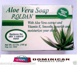 ROLDAN SOAP 3.5 OZ ALOE VERA EXTRACT VITAMIN E MOISTURES AND SOFTENS SKIN