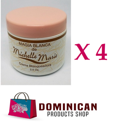 4 UNITS Michelle Marie Skin whitening cream Magia blanca 2.5 ozs Dominican CREAM